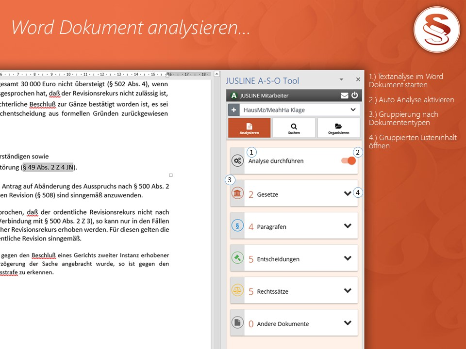 A-S-O Tool - Word Dokument analysieren